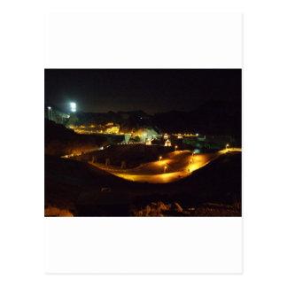 Der Hooverdamm bis zum Nacht Postkarte