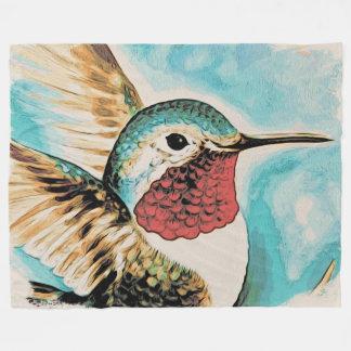 Der hübsche Kolibri des Costas Fleecedecke