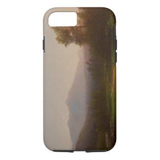 Der Hudson-Landschaft, c.1860-5 (Öl auf Leinwand) iPhone 8/7 Hülle