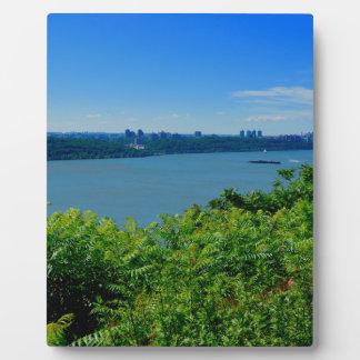 Der Hudson mit NYC Fotoplatte