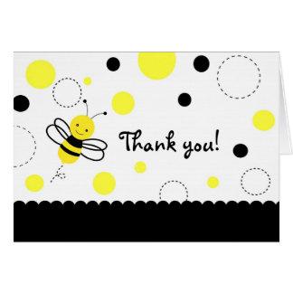 Der Hummel-Bienen-Geburtstag gefaltet danken Ihnen Karte