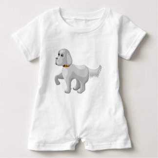 Der Hund gibt Tatze Baby Strampler