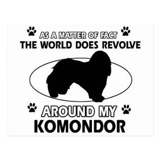Der Hund rotiert um mein KOMONDOR Postkarte