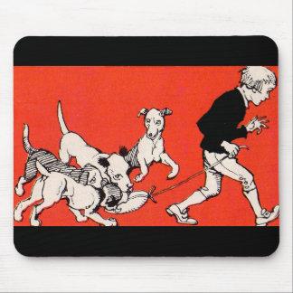 der Hundewanderer Mousepad