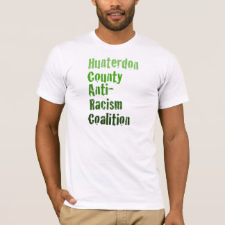 Der Hunterdon der Männer Antirassismus-Grün-Text T-Shirt