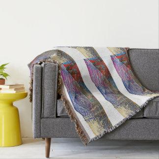 Der Hut des Chinamans in der Farben-Wurfs-Decke Decke