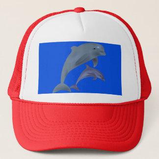 Der Hut des Fernlastfahrers des Delphins Truckerkappe