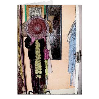 Der Hut des Patsys u. Schal - Buchstabe-Karte Grußkarte