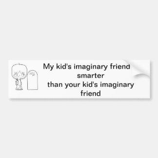 Der imaginäre Freund mein Kindes ist intelligenter Autoaufkleber