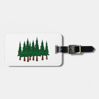 Der immergrüne Wald Gepäckanhänger