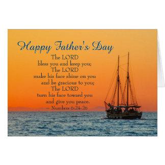 Der inspirierend Vatertag, der Lord Bless You Karte