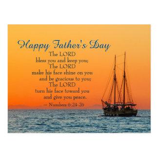 Der inspirierend Vatertag, der Lord Bless You Postkarte