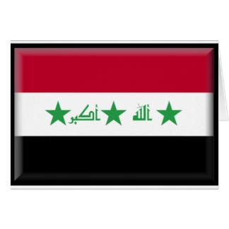 Der Irak-Flagge Karte