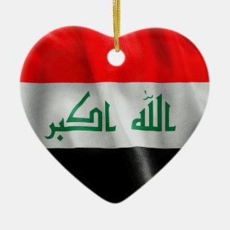 Der Irak-Flagge Keramik Ornament