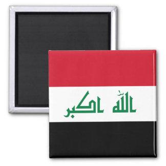 Der Irak-Flagge Quadratischer Magnet