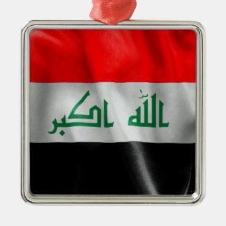 Der Irak-Flagge Silbernes Ornament