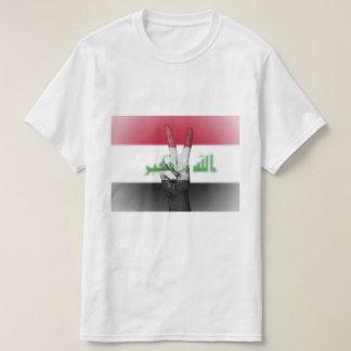 Der Irak-Flaggen-Friedenszeichen - patriotisch T-Shirt