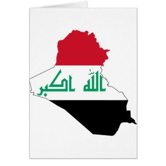 Der Irak IQ, جمهوريةالعراقکۆماریعێراق Flagge, Karte
