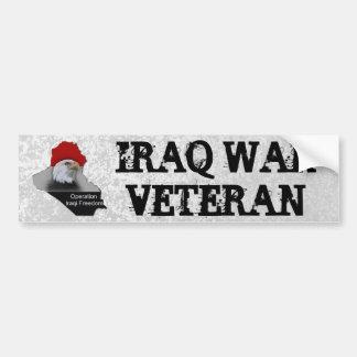 Der Irak-Kriegsveteran-Militär-Veteran Autoaufkleber