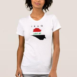 der Irak-Landesflaggekarten-Formsymbol T-Shirt