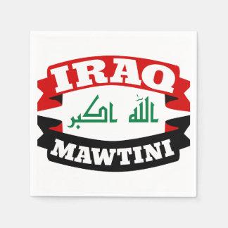 Der Irak meine heimat-Fahnen-Flagge Serviette