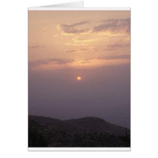Der Irak-Sonnenuntergang Karte
