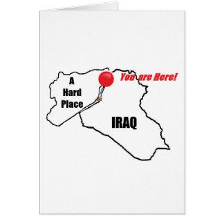 Der Irak und ein harter Platz Karte