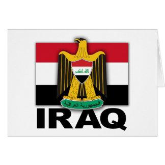 Der Irak-Wappen Flagge Karte