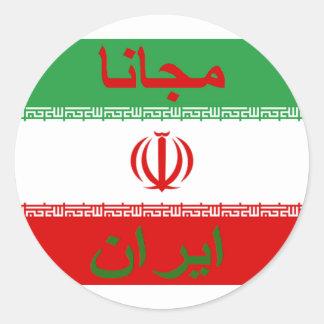 Der Iran-Aufkleber - ايرانمجانا Runder Aufkleber