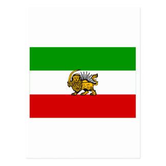 Der Iran-Flagge (1925-1979) Postkarte