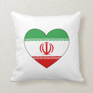 Der Iran-Flaggen-Herz Kissen