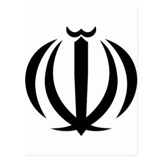 Der Iran IR, Flagge, Wappen, Flagge-Karte Postkarte