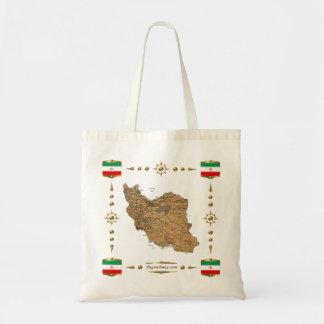 Der Iran-Karte + Flaggen-Tasche Tragetasche