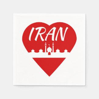 Der Iran-Liebe der Iran Serviette
