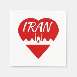 Der Iran-Liebe der Iran Servietten