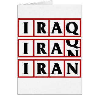 Der Iran nach den Irak Karte
