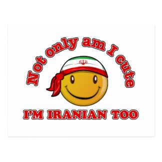 Der Iran-smileyflaggenentwürfe Postkarte