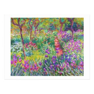 Der Iris-Garten bei Giverny Claude Monet cool, Postkarte