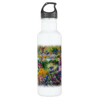 Der Iris-Garten durch Claude Monet Edelstahlflasche