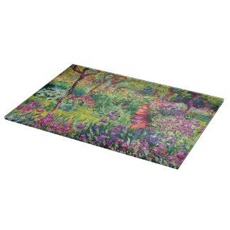 Der Iris-Garten durch Claude Monet Schneidebrett