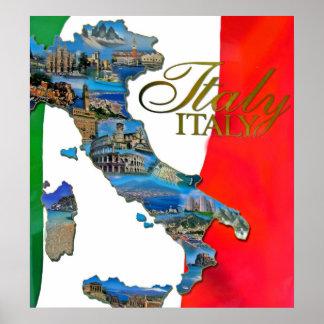 """Der italienische """"Stiefel """" Poster"""