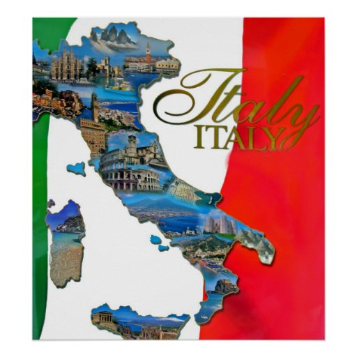 """Der italienische """"Stiefel """" Posterdrucke"""