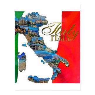 """Der italienische """"Stiefel """" Postkarte"""