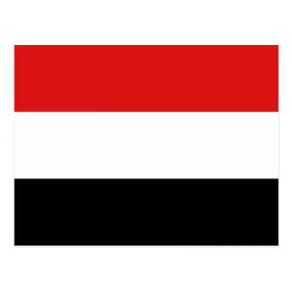 Der Jemen-Flaggen-Postkarte Postkarte