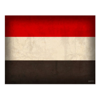 Der Jemen kennzeichnet beunruhigte Postkarten