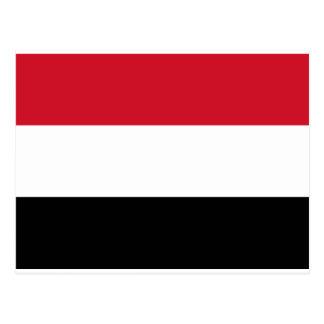 Der Jemen kennzeichnet und Farben Postkarte