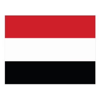 Der Jemen Plain Flagge Postkarte