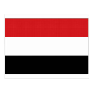 Der Jemen-Staatsflagge Postkarte