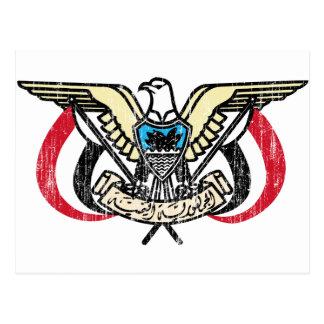 Der Jemen-Wappen Postkarte
