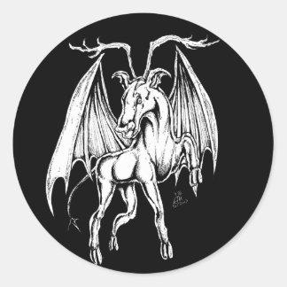 Der Jersey-Teufel Runder Aufkleber